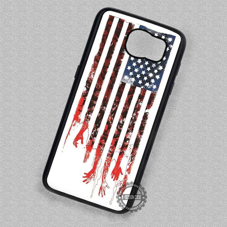 Stars Flag The Walking Dead - Samsung Galaxy S7 S6 S5 Note 5 Cases & Covers