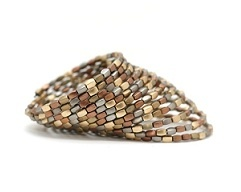 The Metallic Mix Bracelet. Handmade by survivors of human trafficking.