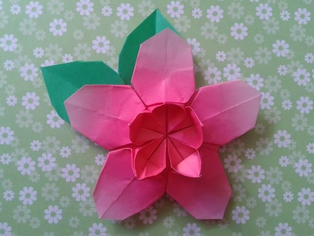 origami lotus flower instructions printable