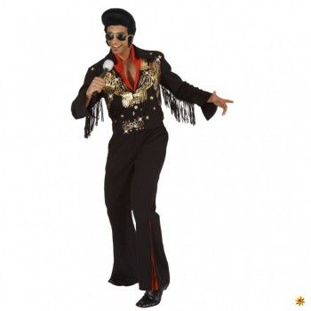 Elvis Kostüm, Rockstar Anzug schwarz kaufen