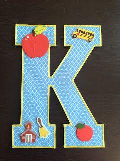 My Kinder Antics: K is for Kindergarten- Photo Prop