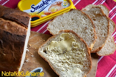 notatki kulinarne: Prosty pszenny chleb na kanapki