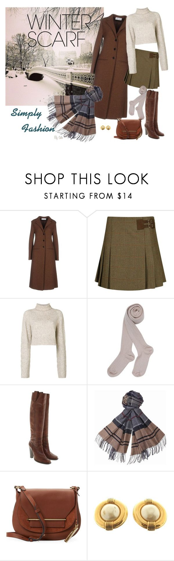 """""""Wrapper's Delight: Winter Scarf - Simply Fashion"""" by selene-cinzia ❤ liked on Polyvore featuring Barena, DUBARRY, Diesel, Barbara Bui, Barbour, Vince Camuto, Chanel and winterscarf"""