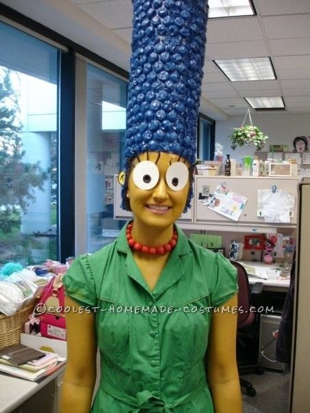 cool homemade marge simpson costume halloween costume contest - Amazing Costumes For Halloween