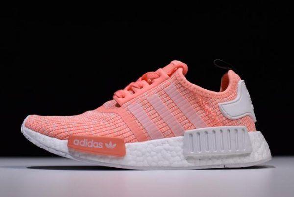 097da0fb5d2b Womens adidas NMD R1 Pink White Running Shoes On Sale