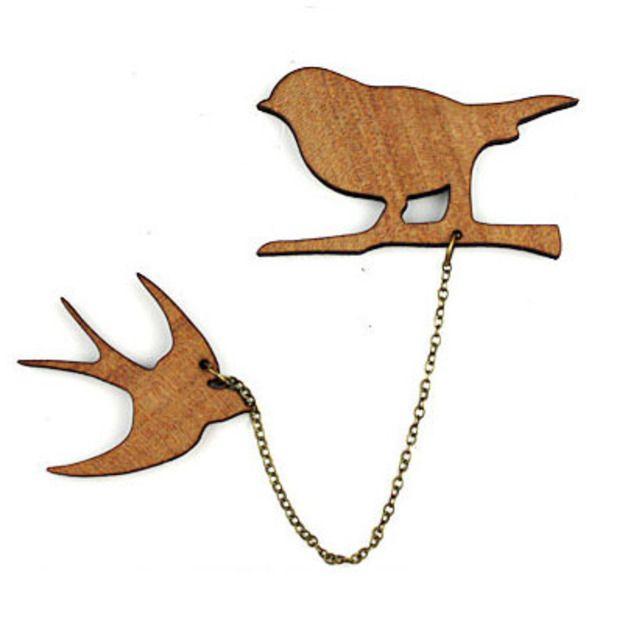 "Cuentas de madera - Pin Kit Madera Natural ""pájaros"" - hecho a mano por MyLittleBird en DaWanda #DaWanda #hechoamano #diseño #handmade #DIY #animales #pets #mascotas #gato #perro #pájaros #cat #dog"
