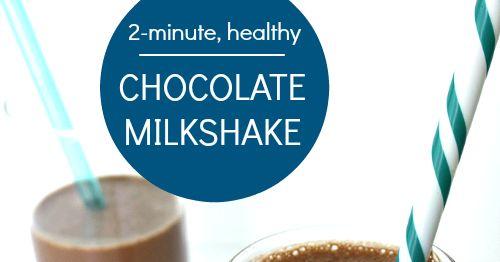 The Garden Grazer: Healthy Chocolate Milkshake