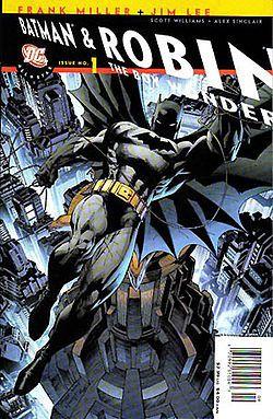 All-star Batman & Robin, the Boy Wonder Volume 1.  Miller, Frank (2008) ISBN 9781401220082.  pencil Jim Lee, ink Scott Williams, color Alex Sinclair, lettered Jared K. Fletcher.