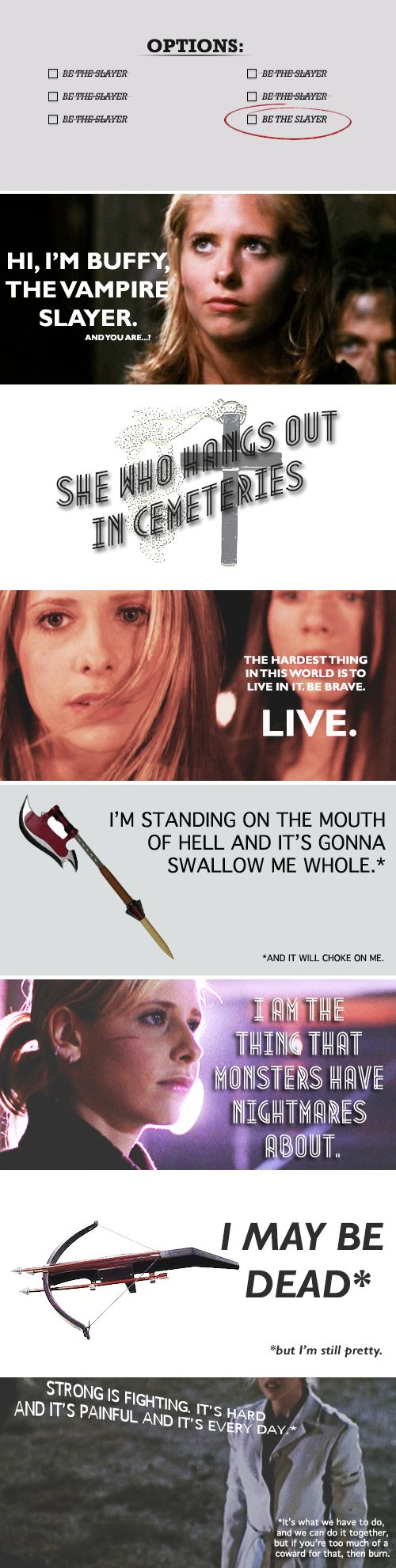 Why Buffy is an inspiration.