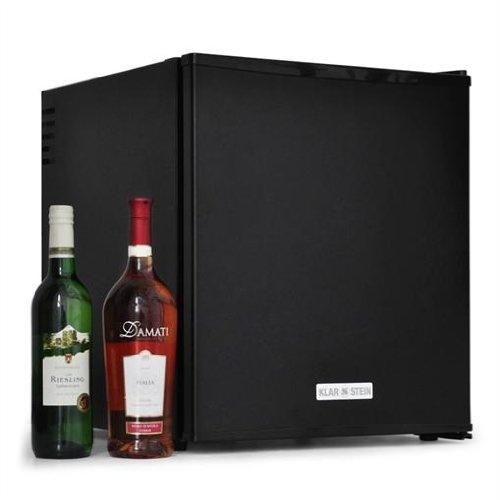 Design Minikühlschrank / Weinkühlschrank freistehend mit geräumigen 48 Litern - Ideal als Minibar mit Flaschenfach + 2 Regale