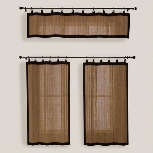 One of my favorite discoveries at WorldMarket.com: Camel Bamboo Ring Top Valance and Tiers