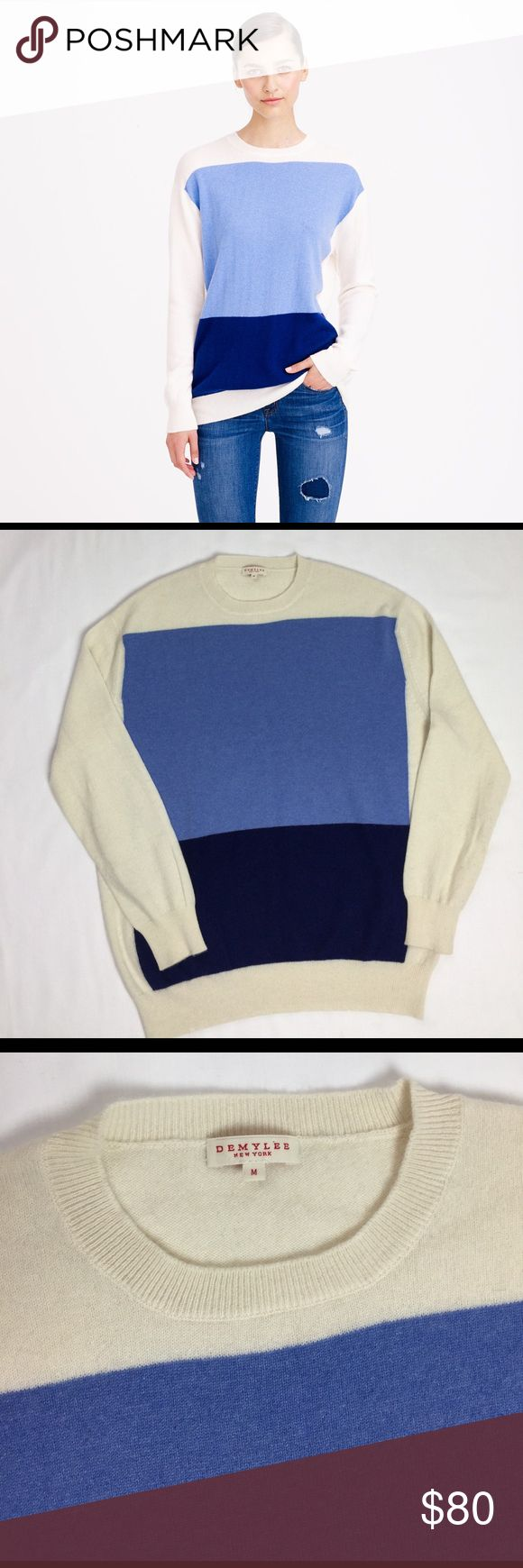 """J.Crew Demylee Sage Cashmere Sweater Geometric Lg Excellent used condition,No flaws. ALL MEASUREMENTS ARE TAKEN WITH GARMENT LYING FLAT: SLEEVES: 22"""" BUST: 22"""" WAIST: 21"""" LENGHT: 26"""" J.Crew Sweaters Crew & Scoop Necks"""
