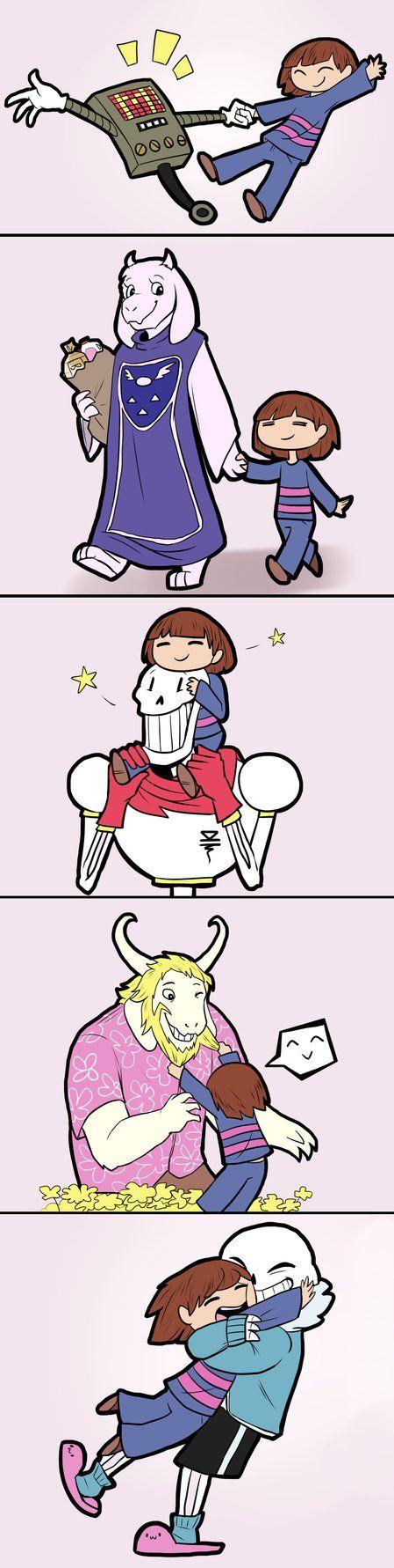 happy family doodles [mild undertale spoilers] by Okonominazi on DeviantArt