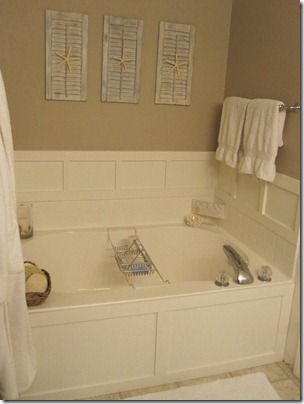 This Is A Builder Grade Garden Tub Which The Homeowner Spruced Up With MDF  And Plywood