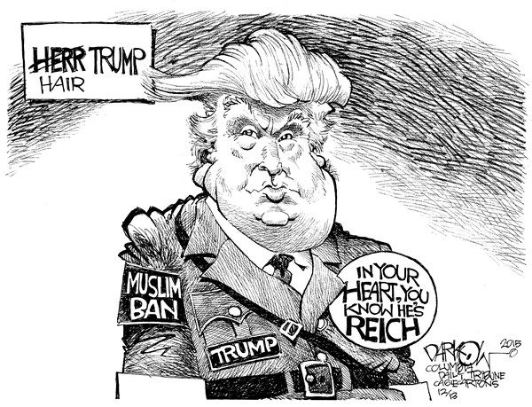 Image result for Cartoon Trump Immigrants Muslim