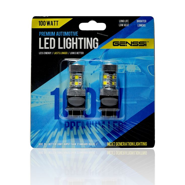 3157 100W LED Bulbs with Amber and white dual function On/Off