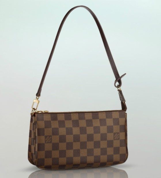 Louis Vuitton Damier Ebene Pochette Nm Great Little Grab And Go Bag Inside My Handbag With A Perfect Drop For Small Shoulder