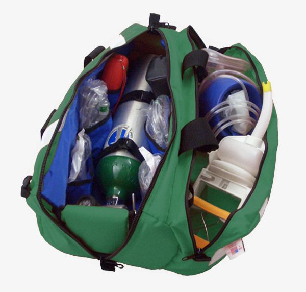 RB Fabrications 835GR-PKT Oxygen Roll Bag with Pocket | Medical Bags | Warrior Fire Equipment