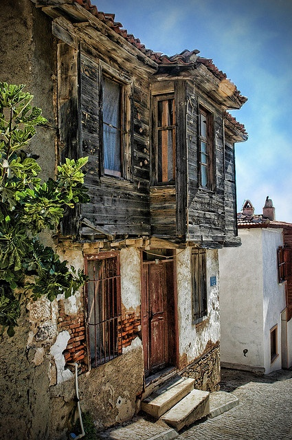 old house from bozcaada 2 by miserym, via Flickr