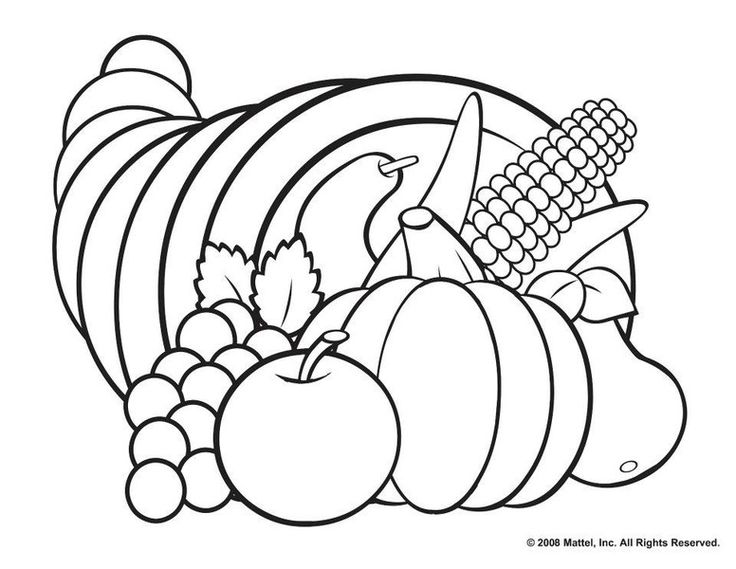 Thanksgiving Coloring Pages Pinterest