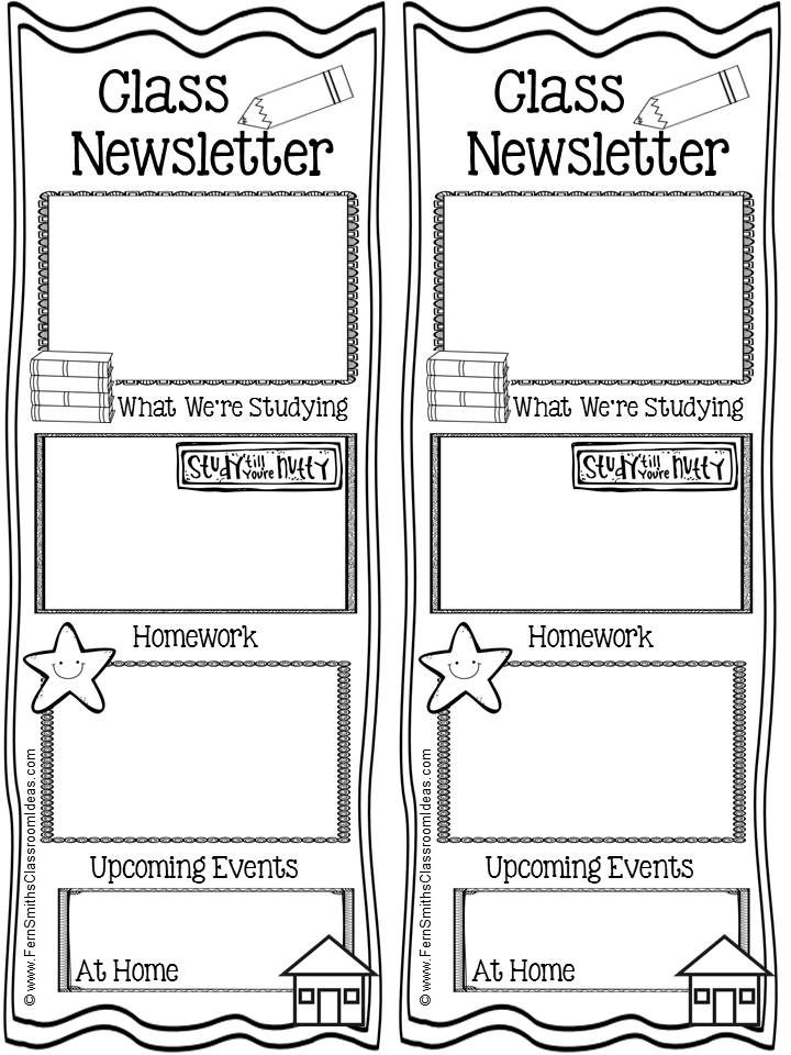 Fern Smith\u0027s FREE Weekly Printable Class Newsletter for Your Student