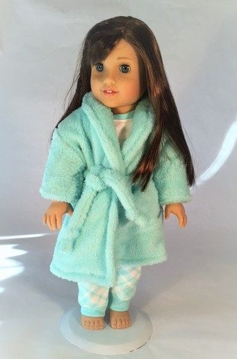 Super Plush robe and pajamas for 18 inch dolls like American