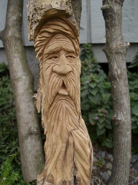 Wood spirit carving carvings by kevin