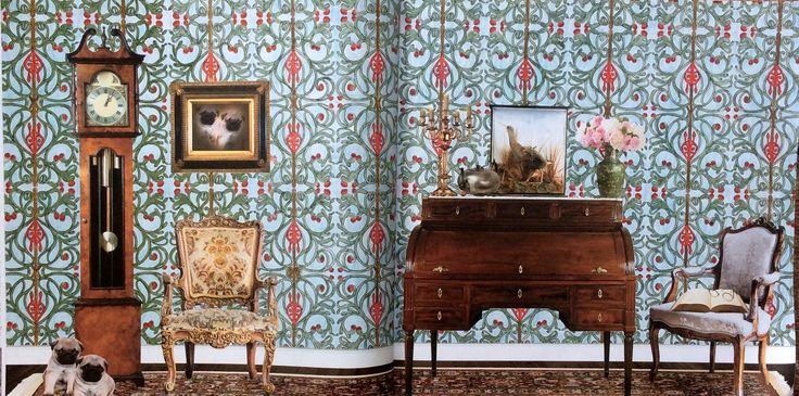 Wallpaper Book. The Year is 1730. Coloured by Prue.