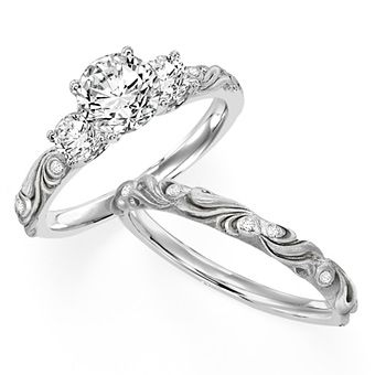 Its like the Princess Bride met Harry Potter and made a classy engagement ring :) love.