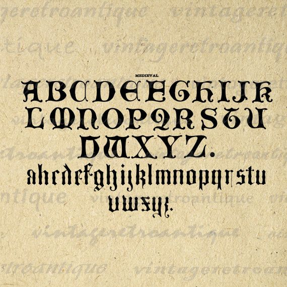Printable Graphic Ancient Alphabet Digital Medieval Letters Download Image. Vintage high resolution digital graphic. This printable digital image download works well for printing, fabric transfers, and more. Real antique clip art. Antique artwork. This image is high quality at 8½ x 11 inches large. Transparent background version included with every graphic.