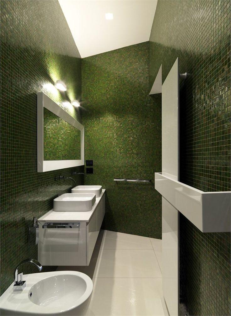 Oltre 1000 idee su piastrelle del bagno verdi su pinterest - Piastrelle bagno verdi ...