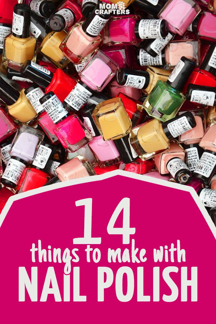 14 cool and functional nail polish crafts! These quick and easy crafts are perfect crafts for teens, or for when you're short on time and all use a common ingredient: nail polish!