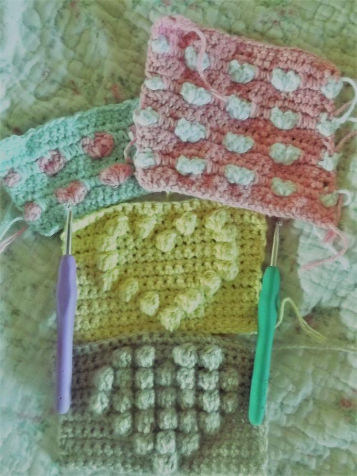 Puntos corazones. A crochet