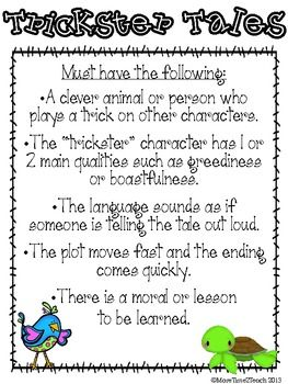 Trickster Tale: FREEBIE - More Time 2 Teach - TeachersPayTeachers.com
