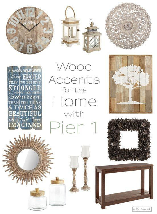 Warm up your home decor with beautiful rustic wood pieces