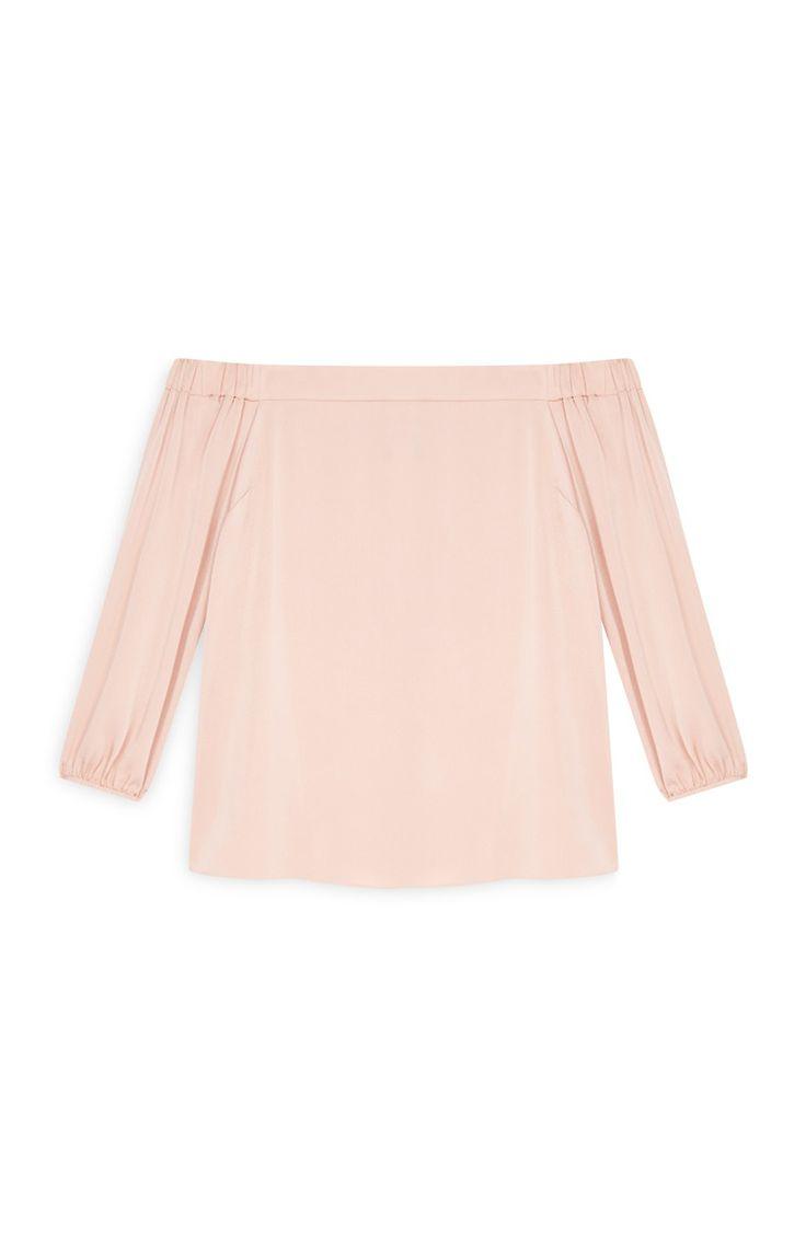 Pink Bardot Top