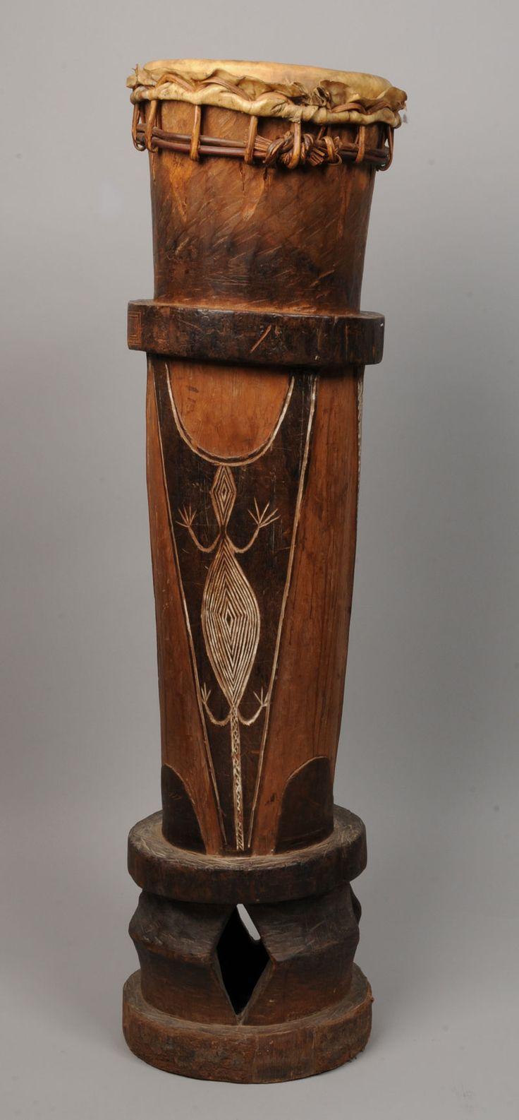 large Fang drum, Gabon - African musical instrument