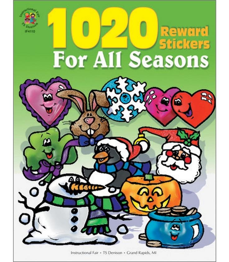 #CDWishList 1020 Reward Stickers For All Seasons Stickers - Carson Dellosa Publishing Education Supplies
