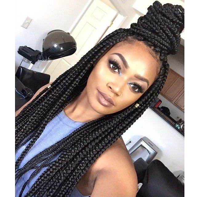 116 best box braids images on pinterest hairstyles protective box braided updo selfie 65 box braids hairstyles for black women pmusecretfo Image collections