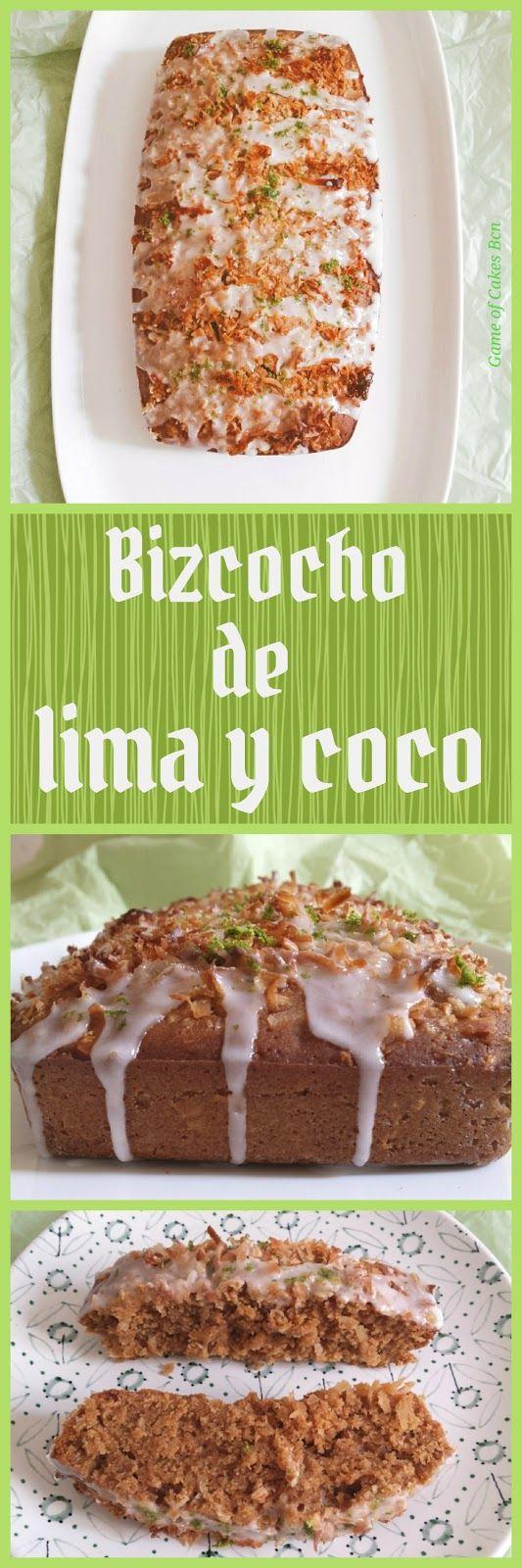Bizcocho de lima y coco con glaseado de lima, sin lácteos, con leche de coco, azúcar de coco y aceite de coco
