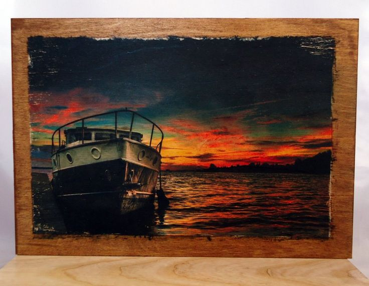 Image on wood, ship on plywood. by VipWood on Etsy