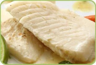 Baked fish with toasted almonds