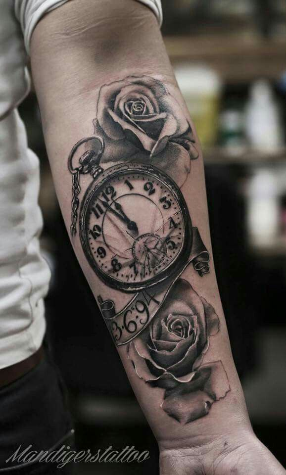 the 25 best clock tattoos ideas on pinterest. Black Bedroom Furniture Sets. Home Design Ideas