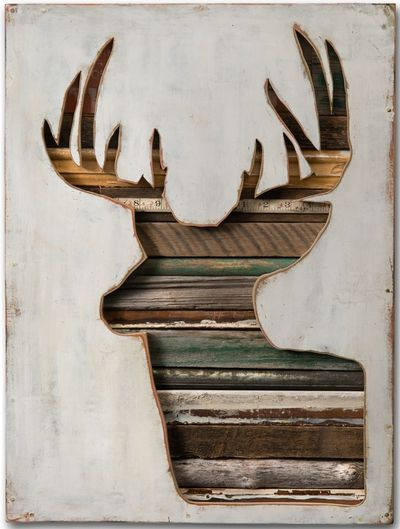 Dolan Geiman, Virginia Den Collection, recycled household paint, salvaged wood and found materials