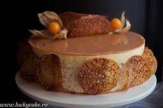 tort nuca mousse de miere glazura caramel