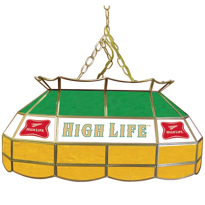 Trademark Commerce MHL2800 Miller High Life 28 Inch Stained Glass Pool  Table Light