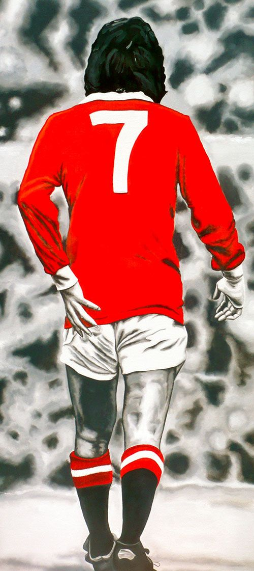 George Best Number 7 Print