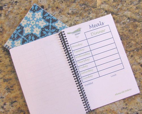 Menu Planner Tutorial | Fabric Family and Fun
