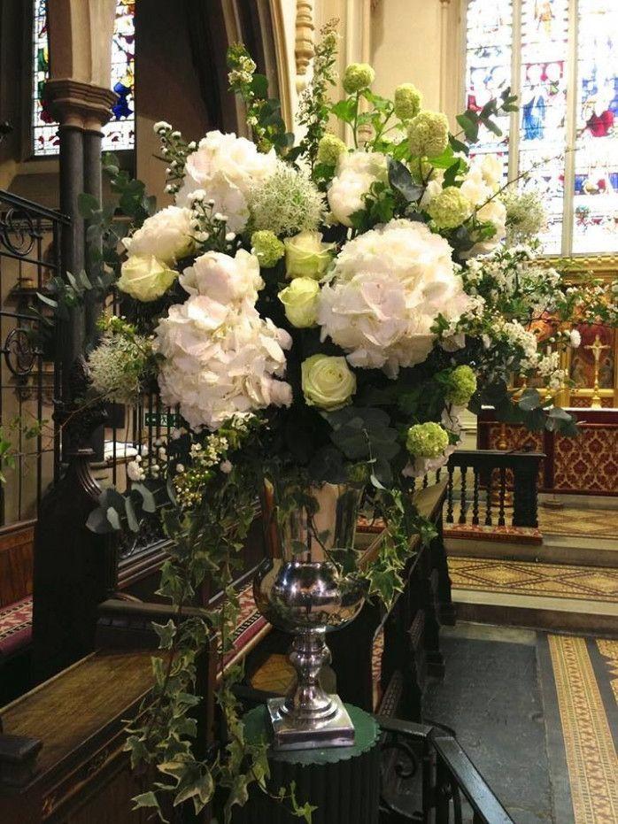 Classic Church Wedding White Hydrangeas 2019 31 Best Pedestal Images On Pi Large Flower Arrangements Large Floral Arrangements Artificial Flower Arrangements