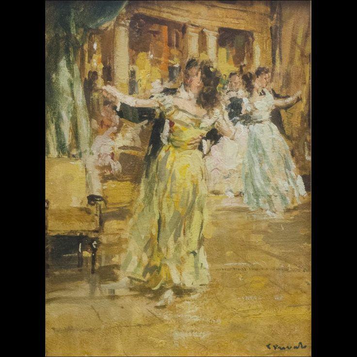 Cosimo Privato (1899-1971) Il ballo  olio su tavola 40x30